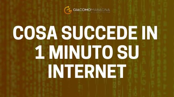 Cosa succede in 1 minuto su internet