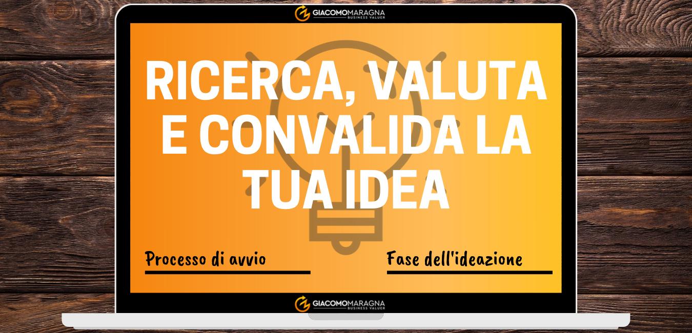Ricerca, valuta e convalida la tua idea | Il processo di avvio